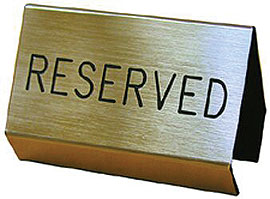 Reserved Signs & Ropes
