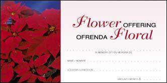 CHRISTMAS FLOWER ENVELOPE - BILINGUAL