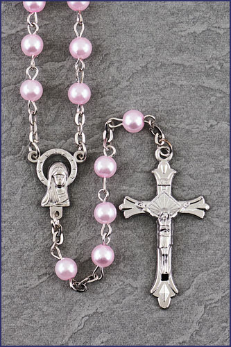 6MM PEARL BEAD ROSARY