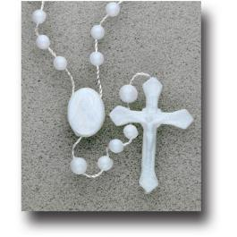 WHITE CORD ROSARY