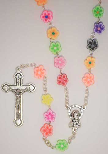 8MM FLORAL BEAD ROSARY