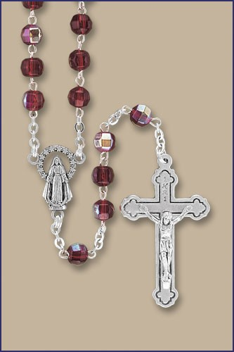 6mm GLASS BEAD BIRTHSTONE ROSARIES