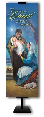 CHRISTMAS NATIVITY BANNER - 69-6009