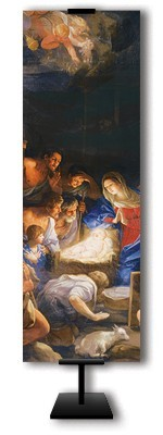 "CHRISTMAS ""OLD MASTER"" NATIVITY BANNER - 69-6010"