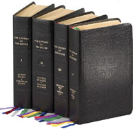 LITURGY OF THE HOURS FOUR VOLUME SET - LEATHER