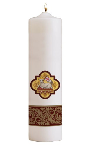 ANGUS DEI CHRIST CANDLE - 44-0094