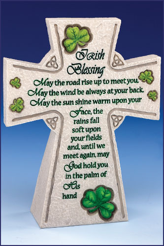IRISH BLESSING TABLE TOP CROSS