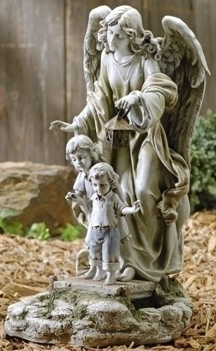 SOLAR POWERED GUARDIAN ANGEL WITH CHILDREN