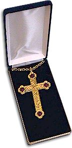GOLD PLATED SCULPTURED STYLE CROSS