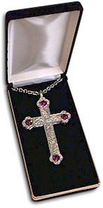 SILVER PLATED SCULPTURED STYLE CROSS