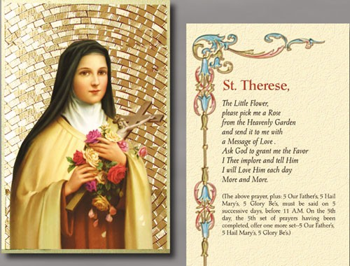 ST THERESE PLAQUE
