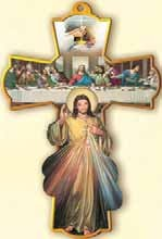DIVINE MERCY WALL CROSS