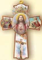 SACRED HEART OF JESUS WALL CROSS