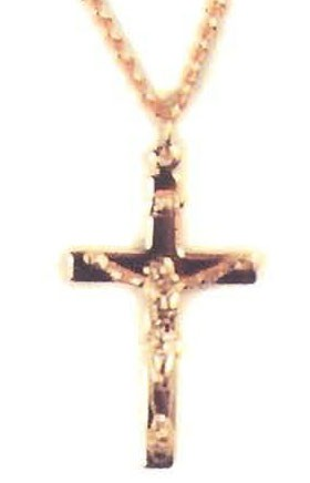 GOLD PLATED BRASS CRUCIFIX