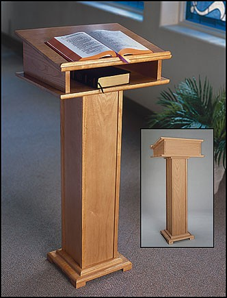 STANDING LECTERN WITH SHELF