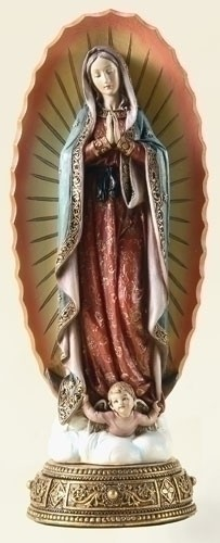 10-1/4 INCH OUR LADY OF GUADALUPE