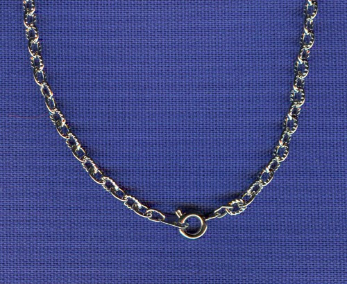24 INCH SILVER FINISH CHAIN