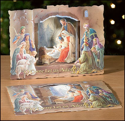3 DIMENSIONAL PAPER NATIVITY SCENE