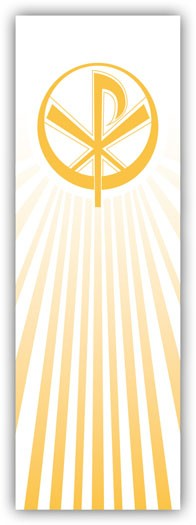 CHIRO MONOGRAM OF CHRIST BANNER