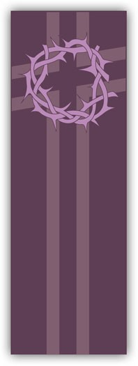 LENT, CROWN OF THORNS BANNER