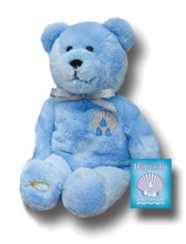 KEEPSAKE BEARS BAPTISM BLUE