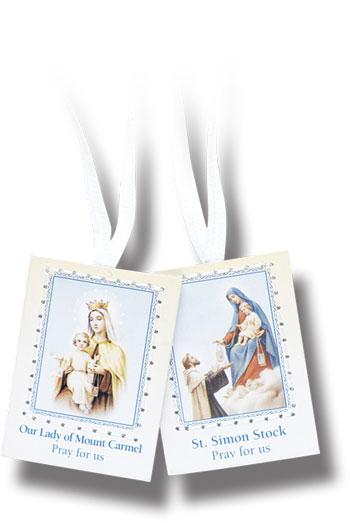 SCAPULAR WHITE RIBBON