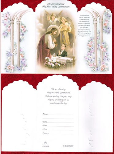 COMMUNION INVITATIONS BOY - ENGLISH