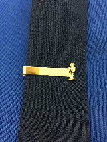 CHALICE TIE BAR GOLD PLATE