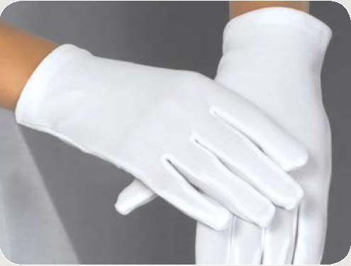 PLAIN WHITE SATIN GLOVES 8-12