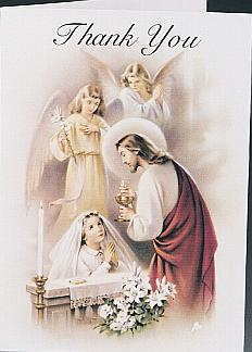 HOLY COMMUNION THANK YOU - GIRL