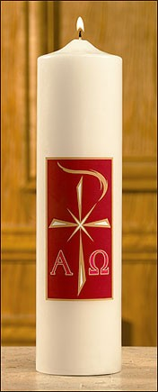 ALPHA & OMEGA CHRIST CANDLE