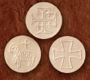 1-1/2 INCH WHEAT ALTAR BREAD LAMB & CROSS