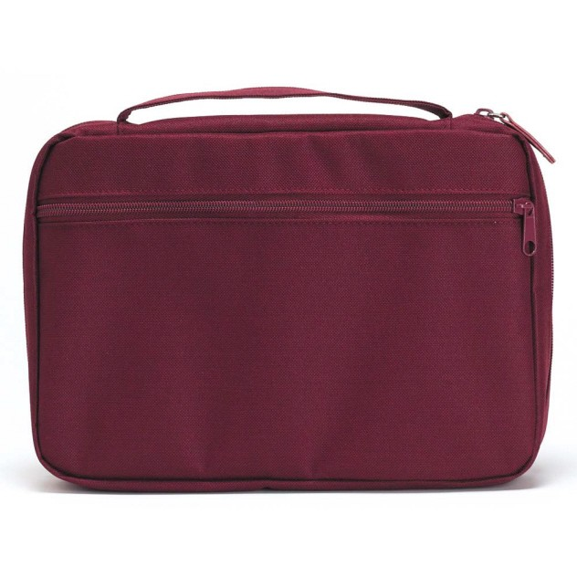 BURGUNDY CANVAS BIBLE CASE