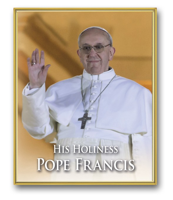 POPE FRANCIS PLAQUE