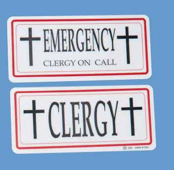 CLERGY AUTO SIGN