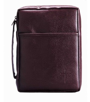 BURGUNDY SOFT VINYL BIBLE CASE