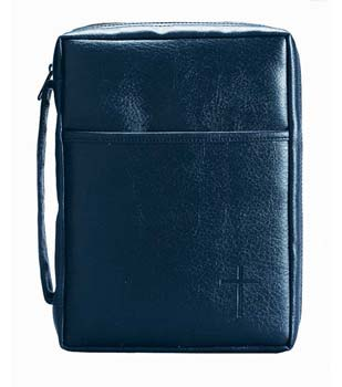 BLUE SOFT VINYL BIBLE CASE
