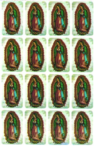 OUR LADY OF GUADALUPE MINI STICKERS - H77-1