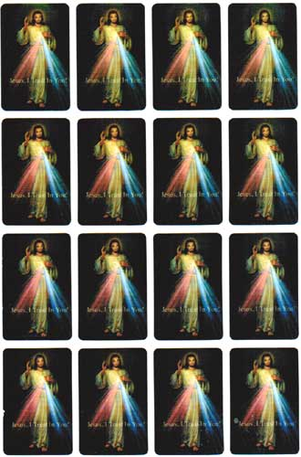 DIVINE MERCY MINI STICKERS - H77-3