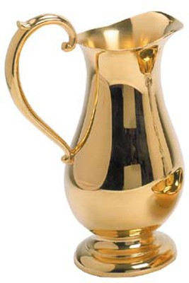 K217-G EWER - PEWTER GOLD PLATED