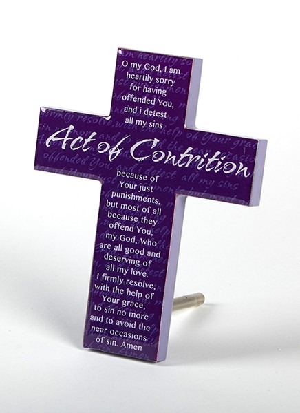ACT OF CONTRITION WOOD CROSS - 53-0801