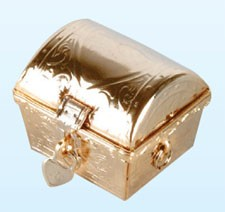 ARRAS SMALL GOLD CHEST & COINS