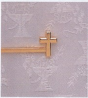 CROSS TIE BAR GOLD PLATE