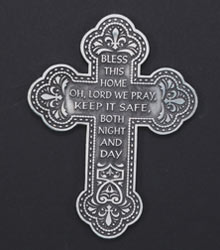 Pewter House Blessing Wall Cross