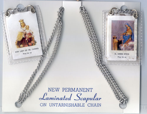MOUNT CARMEL SCAPULAR ON CHAIN