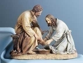 JESUS WASHING FEET STATUE 6.5 INCH
