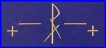 CHI RHO CROSS & BARS EMBROIDERED ALTAR CLOTH