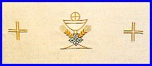 CHALICE WHEAT & HOST EMBROIDERED ALTAR CLOTH