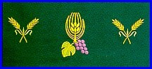 WHEAT & GRAPE EMBROIDERED ALTAR CLOTH