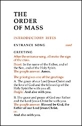 ORDER OF THE MASS - LARGE PRINT